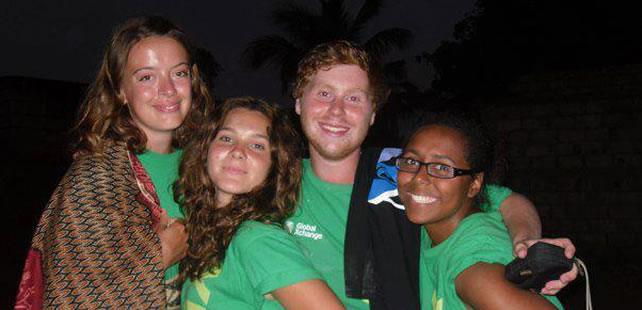 Rosie, Amy, Luke and Vicky in Mozambique 2012.